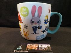 Adorable Zootopia Mug Judy Hopps Nick Wilde Flash coffee cup Disney Store Authentic