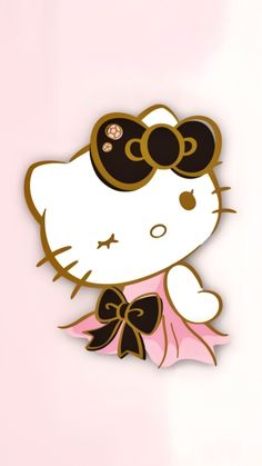 Hello Kitty Drawing, Hello Kitty Art, Hello Kitty Themes, Emo Wallpaper, Phone Wallpaper Design, Sanrio Wallpaper, Hello Kitty Pictures, Kitty Images, Hello Kitty Backgrounds