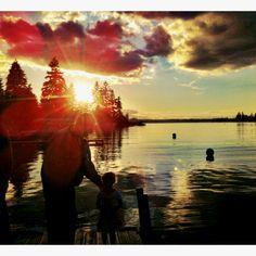 Lake tapps sunset