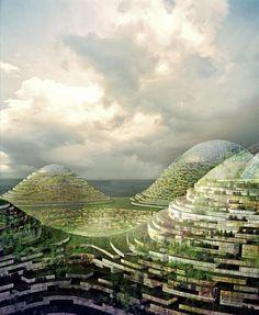 Future City Forest Museums - The Concept of the Eco-city Green Architecture, Futuristic Architecture, Future City, Eco City, Details Magazine, City Drawing, City Model, Fantasy City, Futuristic City
