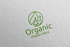 Natural and Organic Logo design 34 by denayunebgt on @creativemarket Organic Logo, Logo Design Template, Design Bundles, Slogan, Photoshop, Templates, Health Yoga, Nature, Ecology