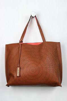 Fashionable Leatherette Perforated Pattern Sports Gym Tote Bag Travel Carry-on