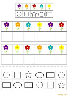 Spring Activities for kids Preschool Learning Activities, Free Preschool, Preschool Printables, Spring Activities, Preschool Worksheets, Toddler Activities, Spring School, School Fun, Solar System For Kids