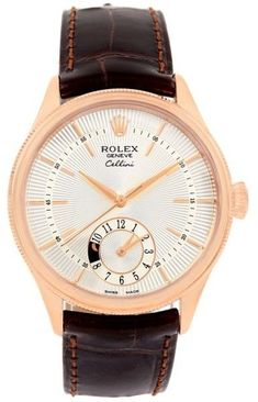 Rolex Cellini Dual Time Everose Rose Gold 39mm Mens Watch