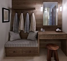 entry changeroom into hammam at home in master bath