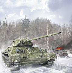 Variante del t-34 con cannone anticarro zis4 da 57mm, conosciuto come T-34-57.