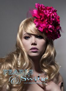 """""""Fuchsia Adore"""" Giant Huge Pink Flower Fascinator Hat Royal Ascot Doncaster York Races. Another of Bink's amazing creations.  www.pearlsandswine.bigcartel.com"""
