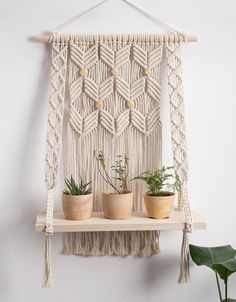 #macrameshelf #flatingshelf #hangingshlef #wallshelf #bookshelf #bohotapestry #macrameplanthanger #macramewallhanging #macramehangingplanter #macramewalldecor #crochetshelf #woodenshelf #ropehanger #wovenwalldecor #bohotapestry #etsy #etsyfinds #housewarminggifts #giftsforher #macramelove #wallplanter ##macrameplanthanger #macramelove #macramemaker #macramesupply #hangingplanter #planthanger #vintagemacrame #ropeplanthanger #crochetplanthanger #decorativeplanter #houseplants #plantlovergifts Macrame Wall Hanging Diy, Macrame Plant Holder, Macrame Plant Hangers, Macrame Art, Macrame Projects, Wall Plant Hanger, Plant Wall, Hanging Shelves, Wooden Shelves