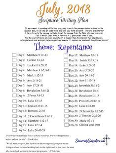 July scripture writi
