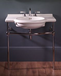 "Bathroom Sinks Nottingham 36"" nottingham console sink with brass stand - console sinks"