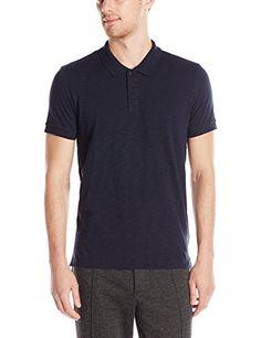 VINCE Vince Men'S Slub Cotton Short-Sleeve Polo Shirt. #vince #cloth #
