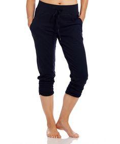 Look at this #zulilyfind! Black Lori Capri Sweatpants by Tsu.ya by Kristi Yamaguchi #zulilyfinds