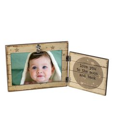 Loving this 'Moon and Back' Hinged Frame on #zulily! #zulilyfinds
