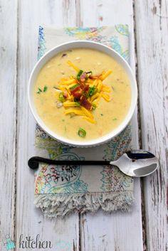Loaded Baked Potato Soup | Kitchen Joy