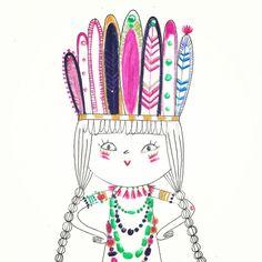 Girly Navajo Illustration by Marine Fleury