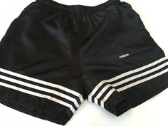 1980's Vintage Adidas shorts gym running side vent by mightyMODERN