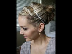 beautiful easy updo    This is a double headband updo hair tutorial. I love this look and it's easy to get. This look also can be changed up easily just by using different accessories.