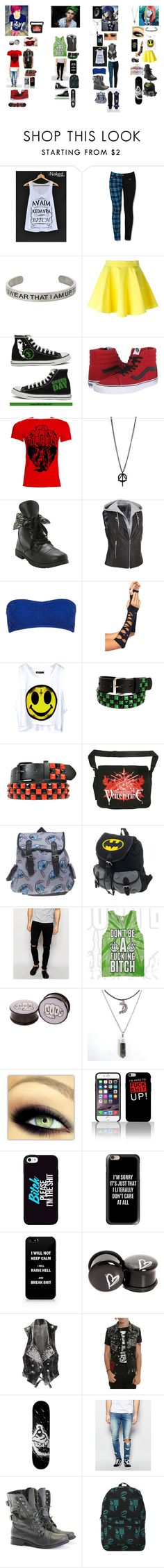 """Hogwarts Rebels"" by xxcashby-squidgyxx ❤ liked on Polyvore featuring Jeremy Scott, Converse, Vans, Forever 21, Wet Seal, Only & Sons, Casetify, Tripp, ASOS and Rocio"