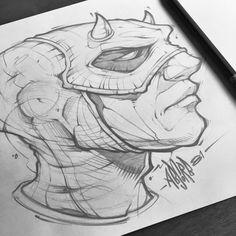 Quick dare devil sketch #absorb81 #art #absorb81 #sketch #daredevil