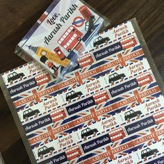 London gift notecards and name stickers #personalised #stationery #personalisedstationery #cupikdesign #india  #onlinestationery #namestickers #stickers #gifts #gifting #giftnotecards