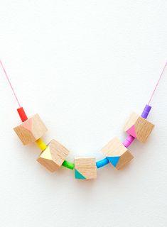 wood geometric beads - Buscar con Google