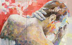 "Saatchi Online Artist: sorin dumitrescu mihaesti; Acrylic, Painting ""Potrait 0021"""