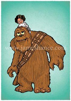Monsters Inc & Star Wars - James Hance