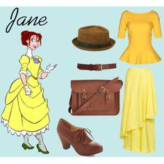 """Jane"" by yestofashionstyle on Polyvore  Disney Princess style :)"