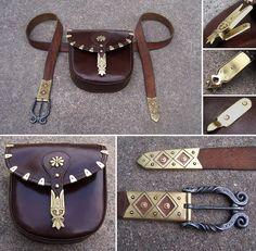 Historical belt and pouch by Astalo.deviantart.com on @deviantART