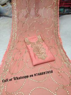 Rajasthani Gota Patti work Suits: Chanderi top with gota embroidery, bottom santoon,...