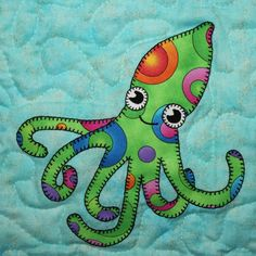 Octopus PDF applique pattern; ocean animal quilt pattern; sea creature quilt pattern; baby quilt pattern; kid's quilt; reef explorer quilt by MsPDesignsUSA on Etsy