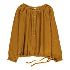 Naia Long Sleeve Blouse Mustard Numero 74 Fashion Children : Naia Long Sleeve Blouse Mustard Numero 74 Children- A large selection of Fashion on Smallable, the Family Concept Store - More than 600 brands. Hijab Fashion, Fashion Dresses, Western Tops, Fashion Children, Shirt Embroidery, Mode Hijab, Girls Wear, Cute Tops, Kid Summer
