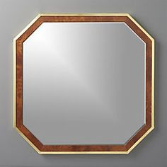 Wyatt Wood And Brass Mirror 32""