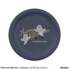 Halloween Ghosties - 7inch party paper plate