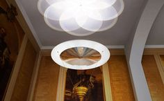 Flowering Fresnel Lighting: The RSA House Chandelier by Troika is Technologically Modern