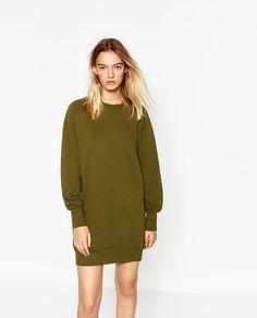 Image 2 of WIDE CUT PLUSH DRESS from Zara