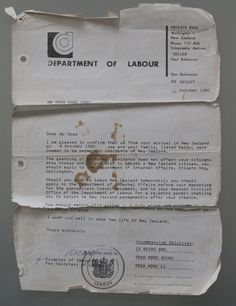 Resettled refugees talk of life half a world away from their homeland . The Department of Labour's letter that was effectively a passport for the Tran family who fled Pol Pot's Cambodia.
