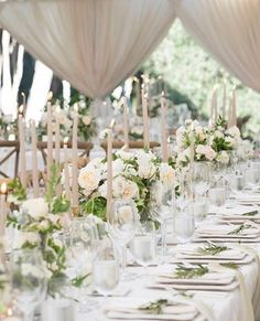 White and ivory with a touch of greenery - elegant neutral wedding palette