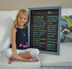 Summer fun list-- all sorts of things to look forward to over summer. Includes a free printable list and tons of ideas!