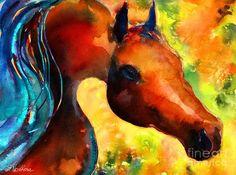 Fantasy Arabian Horse Painting by Svetlana Novikova