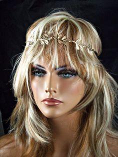 BOHEMIAN GOLD METAL LEAF  ELASTIC STRETCH HEADBAND #SUPERSTAR #Headbands