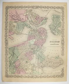 Antique Maryland Map Delaware 1858 Mitchell DeSilver Map Maryland