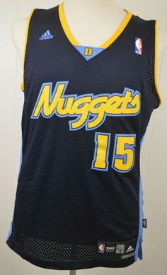 size 40 9fd3b 863e2 Adidas Denver Nuggets Jersey  15 Carmelo Anthony NBA Replica Adult Small  Blue  adidas  DenverNuggets