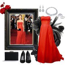 Vintage Dior - Natalie Portman 2012 Oscars, created by ms-aja-james.polyvore.com