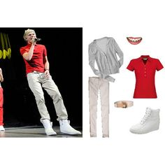 How to Dress Like One Direction for Halloween The Girl Edition! ❤ liked on Polyvore featuring one direction and niall