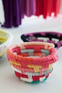 Fabric strip coiled bowls. #craftingcommunity