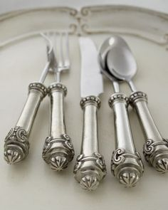 "Five-Piece ""Medici"" Flatware Place Setting by Vagabond House at Neiman Marcus."