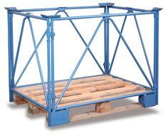GTARDO.DE:  Palettenaufsatz Typ 68, Tragkraft 2000 kg, Ladefläche 1200 x 800 mm, Höhe 1600 mm 121,00 €