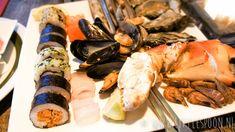 Zeeuws Mosselhuis. Verse handgerolde sushi met schaal- en schelpdieren, krab, kreeft en natuurlijk verse vis. Zeeland