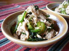 ✿鶏ささみとワカメきゅうりのゴマ酢和え✿